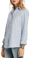 Scotch & Soda Embroidered Lips Button-Down Shirt