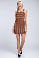 Honey Punch Plaid Overall Dress