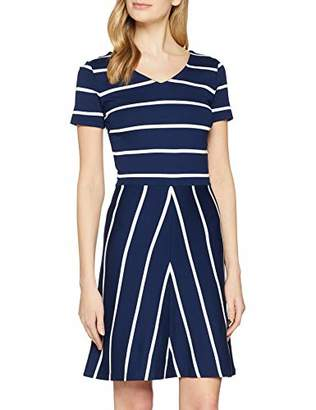 Gant Women's O2. Striped Flared Dress Persian Blue 423, M