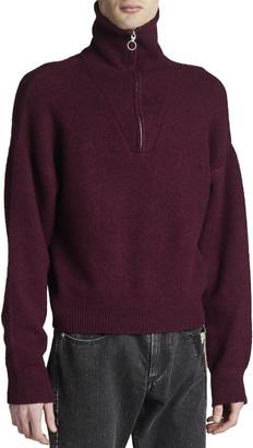 Isabel Marant Men's Percy Quarter-Zip Wool Sweater