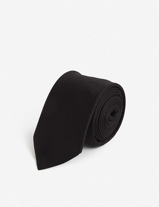 Givenchy Brand-embroidered ribbed-weave silk tie