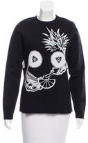 Opening Ceremony Intarsia Crew Neck Sweater