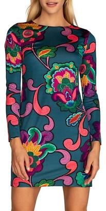 Trina Turk Camellia 2-D Paisley Floral Bodycon Dress