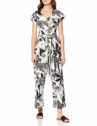 Amazon Brand - find. Women's Casual Linen Short Sleeve Jumpsuit