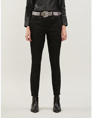 Good American Good Legs Crop animal-print high-rise jeans
