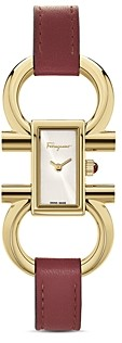 Salvatore Ferragamo Double Gancini Watch, 13.5mm x 23.5mm