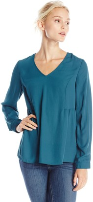 Olive + Oak Olive & Oak Women's Ladder Back Long Sleeve Top