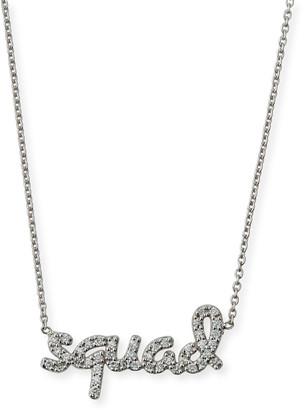 Roberto Coin 18k White Gold Diamond Squad Necklace