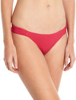 Saha Ruched-Sides Classic Swim Bottom, Raspberry