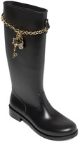 Love Moschino Charm & Chain Tall Boot