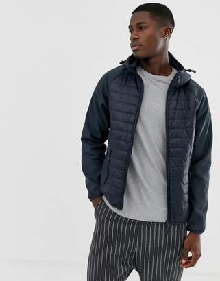 Esprit quilted body jacket in navy