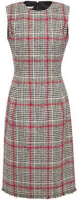 Oscar de la Renta Checked Cotton-blend Tweed Dress