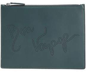 Smythson Piccadilly Medium Perforated Leather Pouch