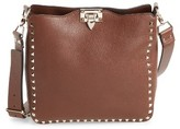 Valentino Small Rockstud Leather Hobo - Brown