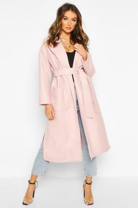 boohoo Oversized Robe Belted Coat