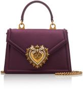 Dolce & Gabbana Devotion Mini Embellished Silk-Satin Shoulder Bag