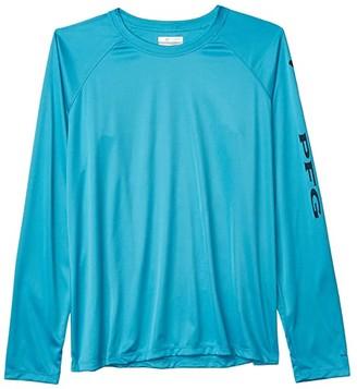 Columbia Tidal Teetm II L/S (Clear Water/Collegiate Navy) Women's Long Sleeve Pullover