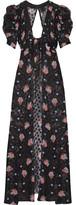 Anna Sui Cutout Printed Fil Coupé Silk-blend Jacket - US10