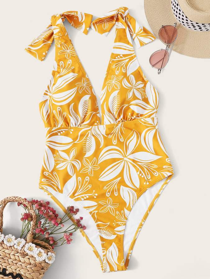 659fb3522a1f Shein Yellow One Piece Swimsuits - ShopStyle