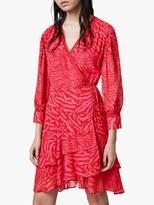 AllSaints Keva Remix Wrap Mini Dress, Pink