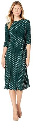 Lauren Ralph Lauren Printed Matte Jersey Felia w/ Sleeve 3/4 Sleeve Day Dress