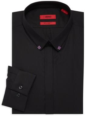 HUGO Eurin Extra Slim Fit Stretch Tipped Collar Dress Shirt
