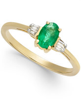 Macy's Emerald (1/2 ct. t.w.) & Diamond Accent Ring in 14k Gold