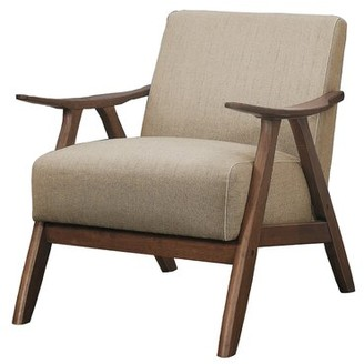 Corrigan Studio Yashvi Fabric Upholstered Armchair Fabric: Light Brown