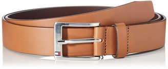 Tommy Hilfiger Men's New Aly Belt Brown (Dark Tan) 85
