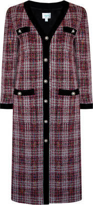 Jovonna London Red Tweed Connie Longine Jacket - small