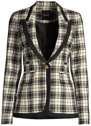 Smythe Plaid Wool Blazer