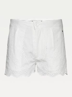 Tommy Hilfiger Organic Cotton Broderie Anglaise Shorts