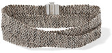 Carolina Bucci Melange Woven 18-karat White Gold And Silk Wrap Bracelet - one size