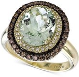LeVian Le Vian® Chocolatier Green Amethyst (2-3/4 ct. t.w.) and Diamond (1/2 ct. t.w.) Ring in 14k Green Gold
