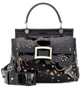 Roger Vivier Viv' Cabas Small patent leather tote
