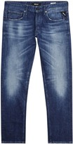 Replay Grover Dark Blue Faded Straight-leg Jeans