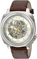 Vince Camuto Men's Quartz Stainless Steel and Leather Dress Watch, Color:Brown (Model: VC/1091SVSV)