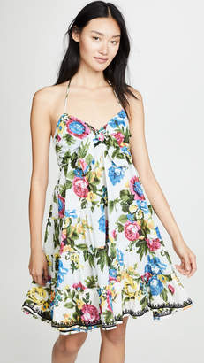 Juliet Dunn Tie Front Mini Dress
