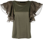 Muller of Yoshio Kubo Muller Of Yoshiokubo - ruffle sleeve blouse - women - Cotton/Lyocell - 36