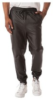 Jackson - Men's Faux Leather Jogger Pants Black XXL
