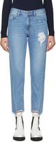 Sjyp Blue Bias Jeans