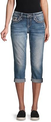 Vigoss Contrast Stitch Cropped Jeans