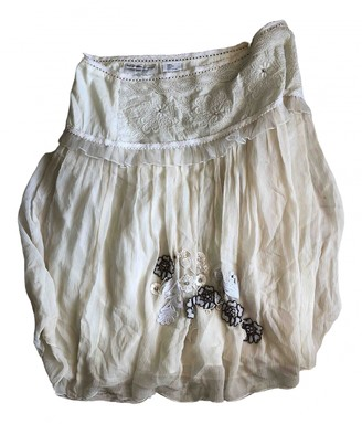 Les Petites Ecru Silk Skirt for Women