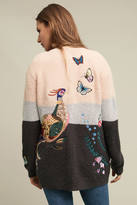 Monogram Winged Patchwork Cardigan