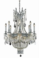 Swarovski Ursula 12 - Light Candle Style Empire Chandelier with Crystal Accents Astoria Grand Finish: Dark Bronze, Crystal Color: Spectra