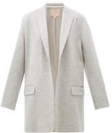 Roksanda Shida Longline Peak-lapel Wool Blazer - Womens - Grey