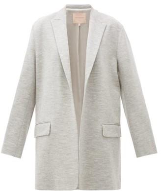 Roksanda Shida Longline Peak-lapel Wool Blazer - Grey