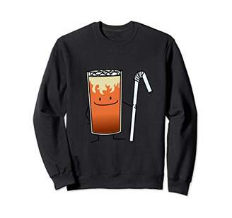 Thai Iced Tea & Bendy Straw Happy Drink Thailand Sweatshirt