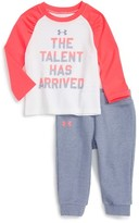 Under Armour Infant Girl's Running This Game Top & Sweatpants Set