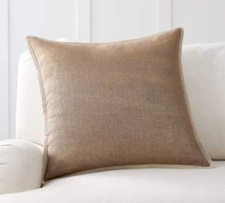 Pottery Barn Metallic Printed Flax Pillow Cover